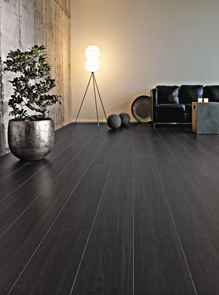 High Gloss Black Laminate Sheets Wood Parquet Flooring Vinyl