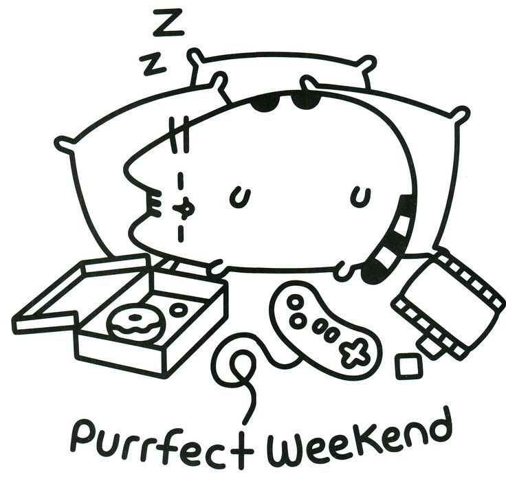 Image result for pusheen coloring pages | Viole | Colores, Gatito ...