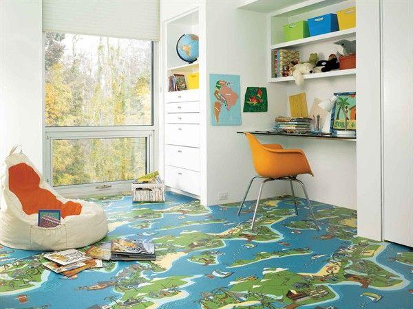 5 Fun Modern Vinyl Flooring Designs From Tarkett Vinyl Flooring Modern Vinyl Flooring Floor Design