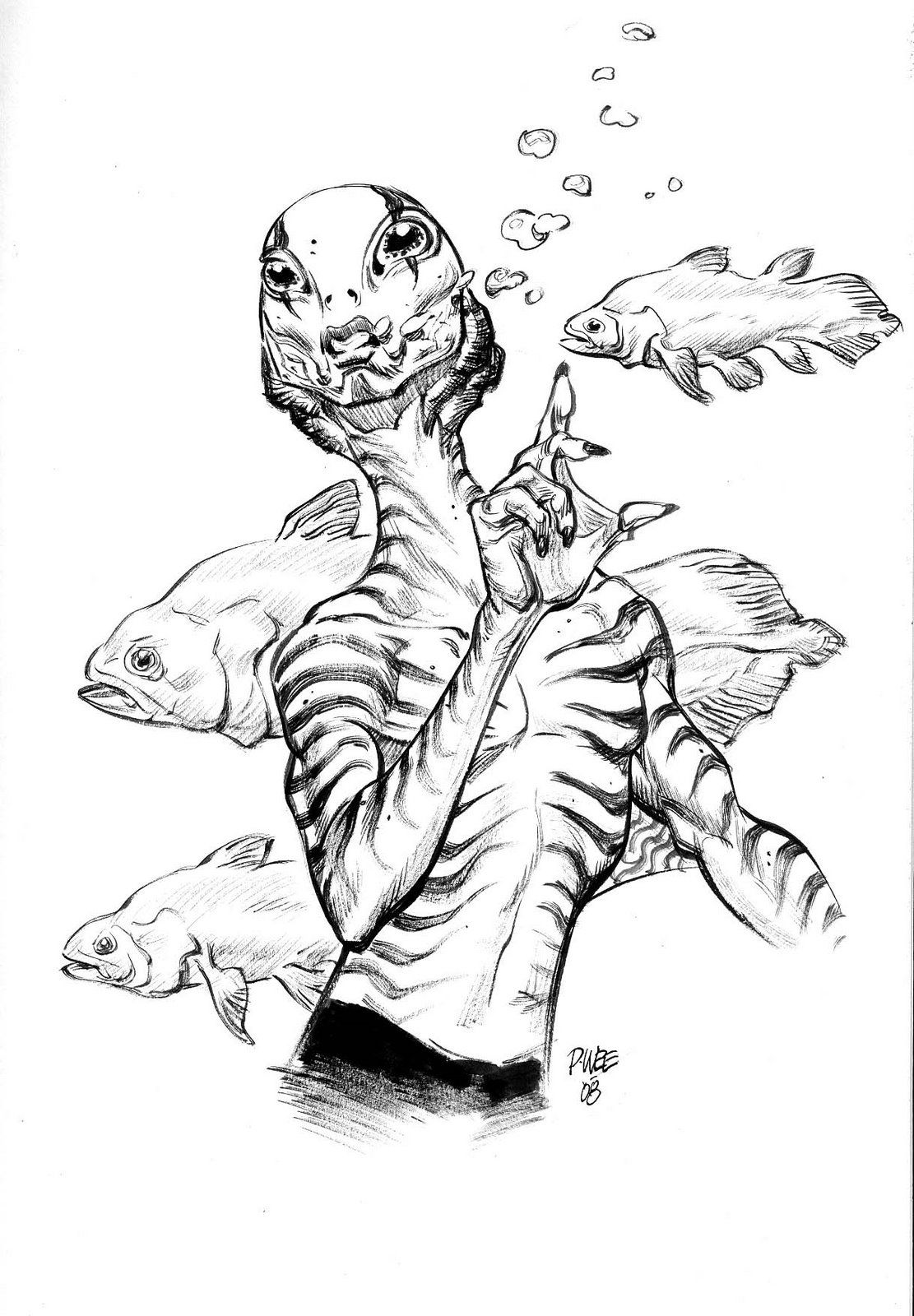 Abe Sapien by Paul Wee | Character design sketches ...