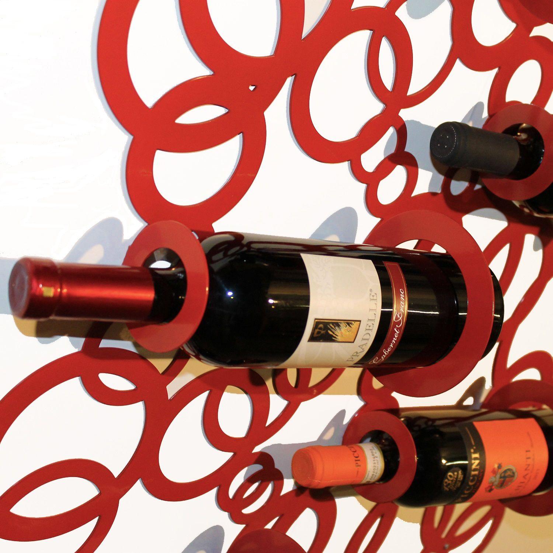 Porta Bottiglie Di Vino Realizzato In Lamiera Di Ferro Tagliata A Laser Espositore Bottiglie Di Vi Portabottiglie Da Parete Portabottiglie Vino Portabottiglie