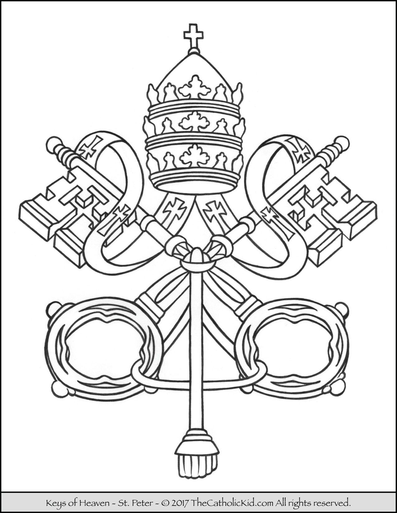 Pin lisääjältä TheCatholicKid.com taulussa Catholic Church Coloring ...
