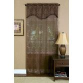 Found it at Wayfair - Dakota Curtain Single Panel with Attached Pleated Valance