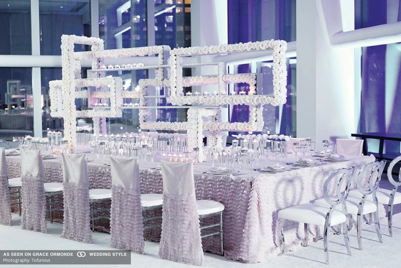 Modern wedding decor images  romantic modern wedding reception tabletop decor  Modern Wedding