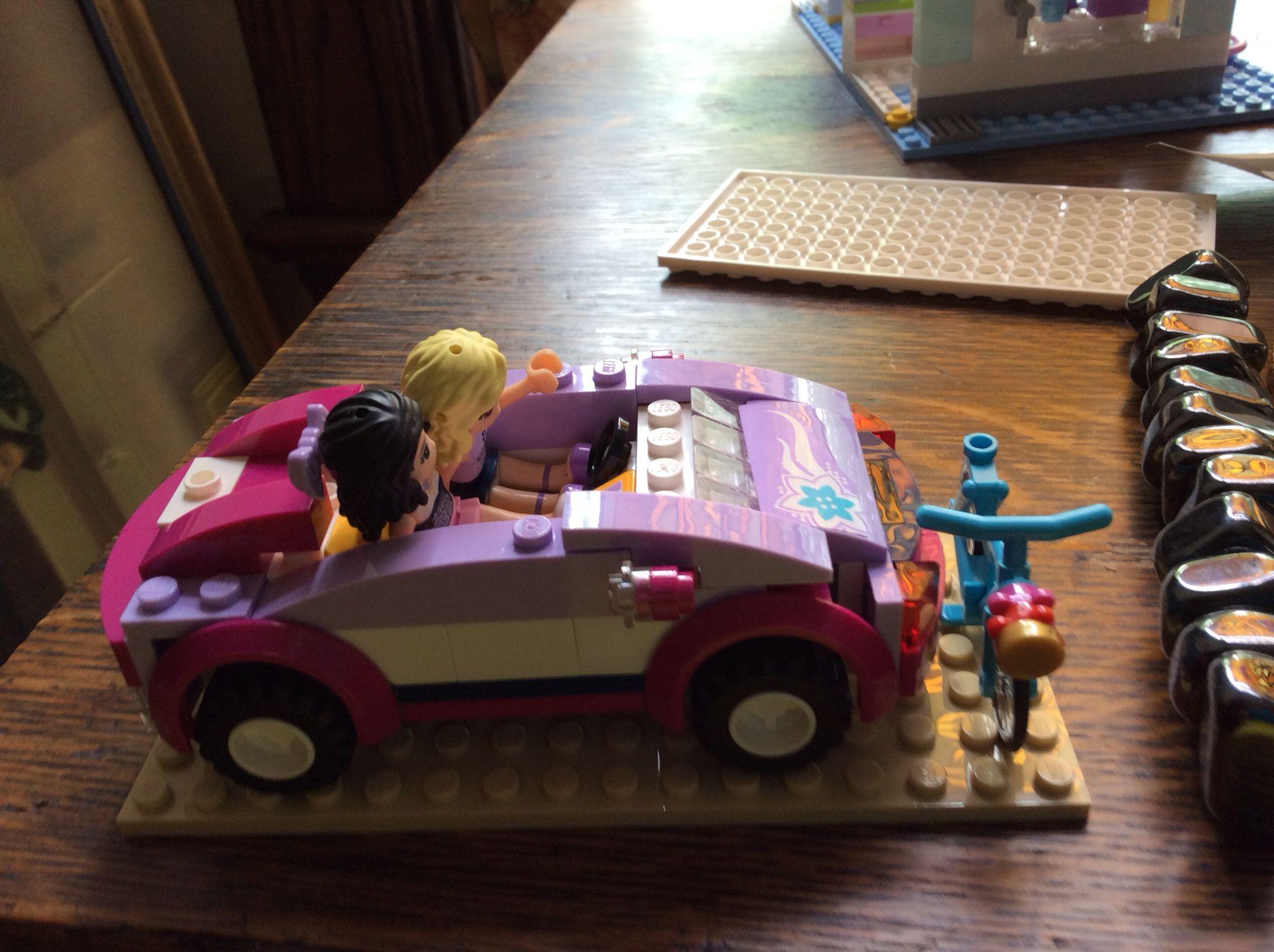 Lego car and bike.