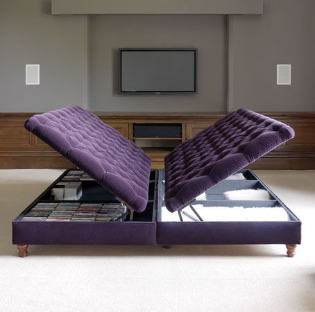 The London Footstool Company for big footstools with inbuilt storage. Good  for sitting room and