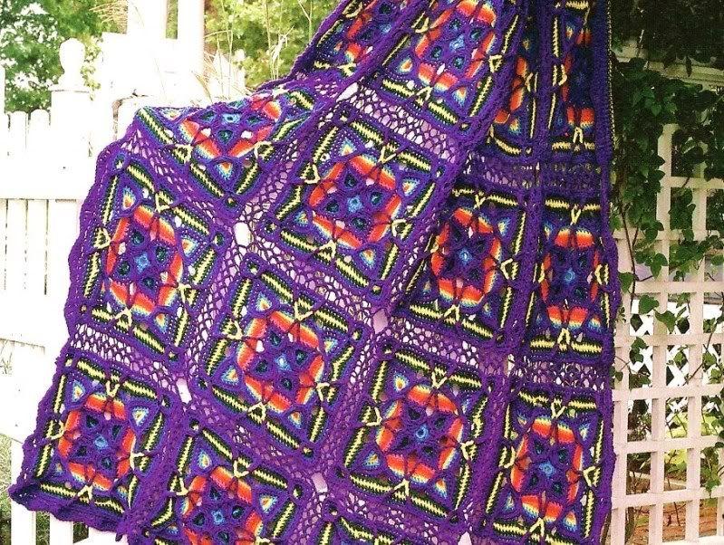 Kaleidoscope Afghan ~ no pattern...but isn't it lovely....