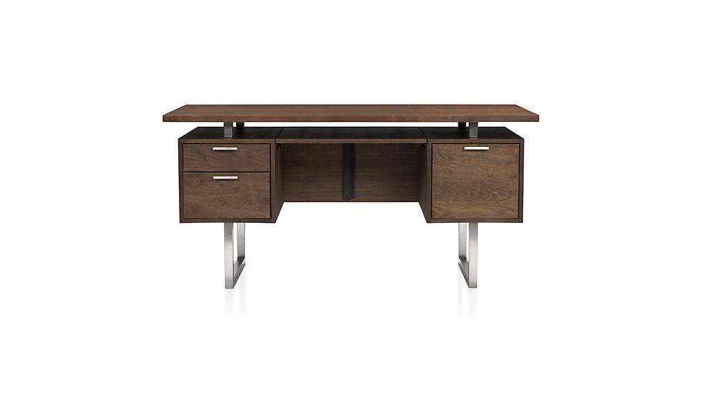 Walnut home office furniture Modern Clybourn Walnut Executive Desk Pinterest Clybourn Walnut Executive Desk Office Desk Modern Desk Modern