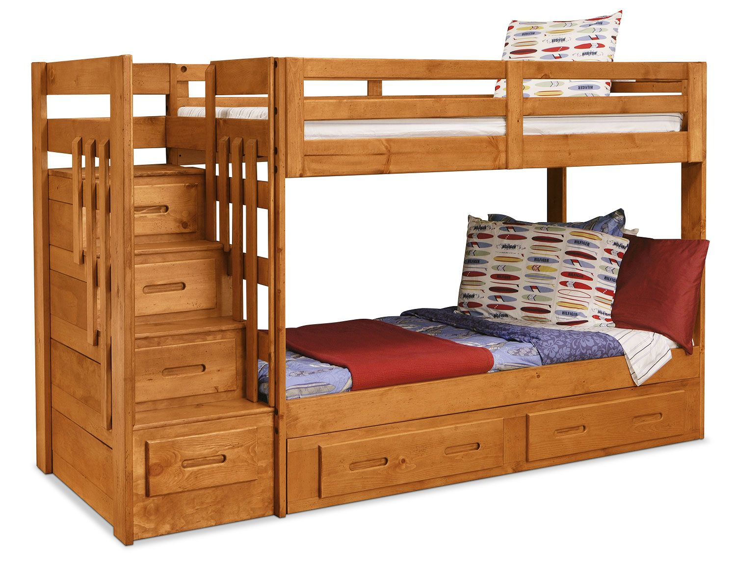 Ponderosa Staircase Bunk Bed Staircase Bunk Bed Bunk Bed And  # Muebles Ponderosa