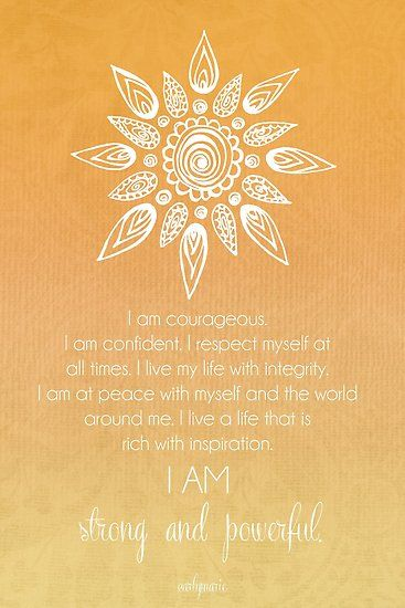 Solar Plexus Chakra Affirmation Poster by CarlyMarie