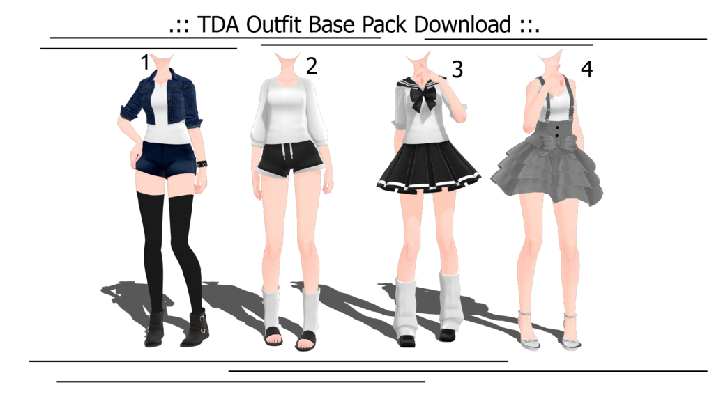 TDA Outfit Base Pack (2016/12/04 +Updated) By MMD-Aries