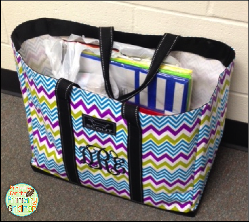 7 best images about Teacher tote on Pinterest   Black dots ...