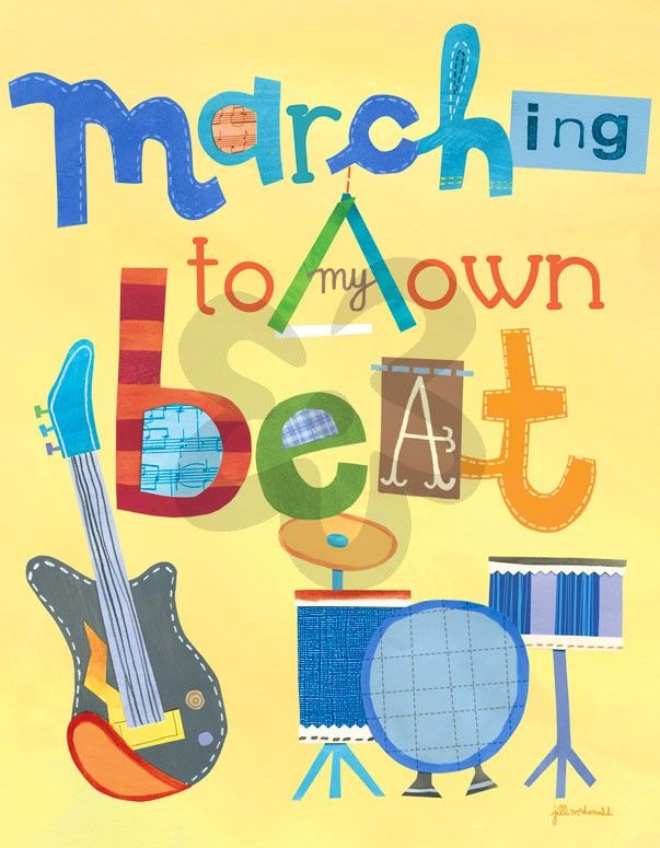 Marching To My Own Beat - Inspirational Canvas Wall Art   Oopsy daisy