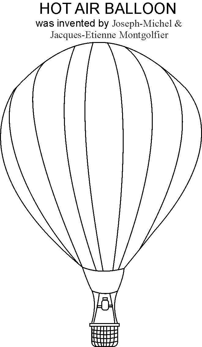 Hot Air Balloon coloring printable