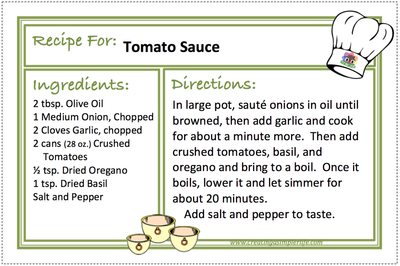 TOMATO SAUCE Recipes - CREATING A SIMPLER LIFE