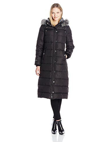7f1166fc846 Nautica Women s Long Maxi Puffer Coat with Faux Fur Trim Hood     Check out  the image by visiting the link.
