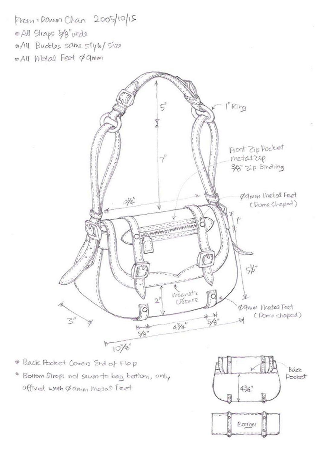 7 Best Images Of Leather Handbag Patterns Printable