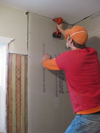 Hanging Cement Board Drywall Amp Fixing The Subfloor