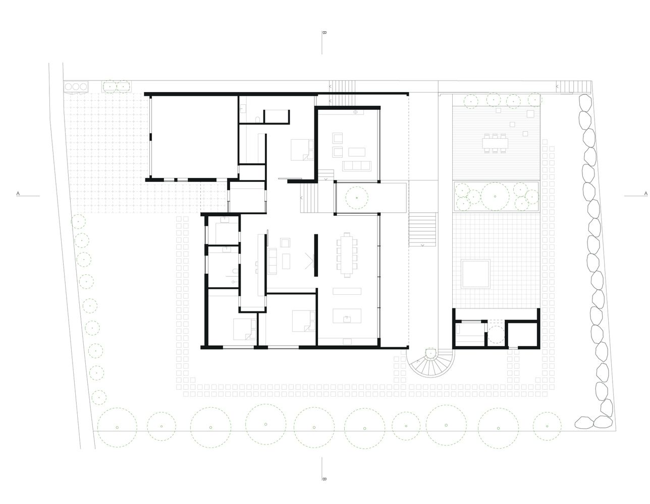 Gallery Of Private Residence In Gardabaer Tripoli 17 In 2020 Residences Architecture House Floor Plans