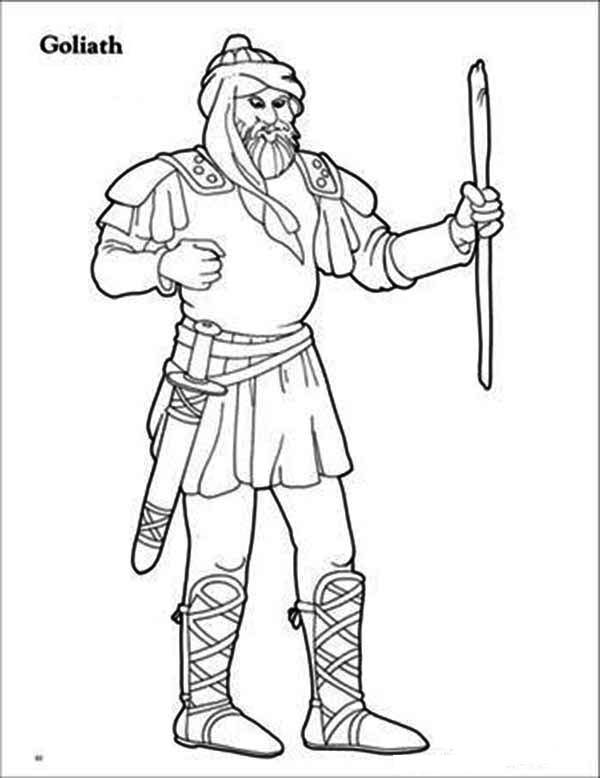 An Arabic Illustration Of Goliath Coloring Page David And