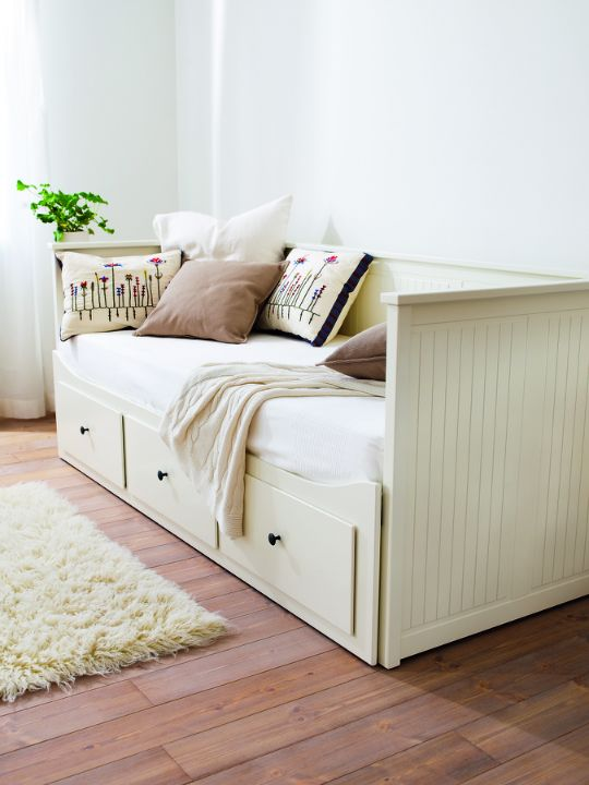 Hemnes bed from Ikea we got these for my daughters and they are fantastic! The drawers provide