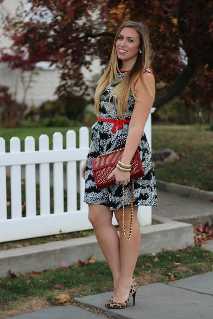 Living After Midnite: Holiday Dressing with Mixed Prints by jackiegiardina, via Flickr