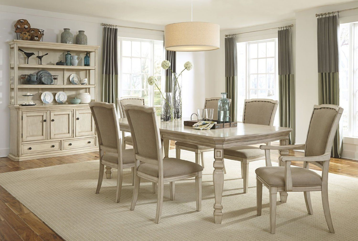Nice Formal Dining Room Set With Table Chair And Arm Traditional Desi