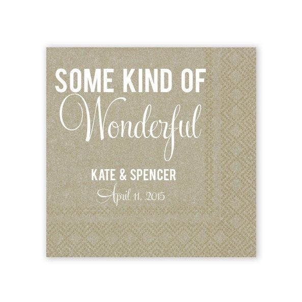 Set of 300  Personalized Some Kind of Wonderful  by GraciousBridal, $108.00