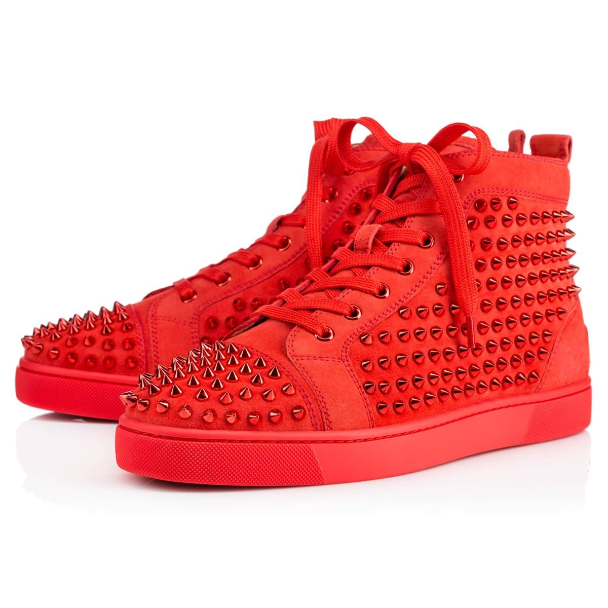christian louboutin mens shoes all red