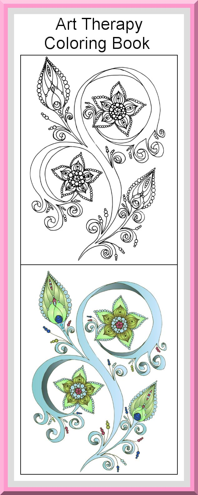 30 Printable Coloring Pages Outlines Color Examples Printable Download Pages Art Therapy Col Printable Art Therapy Coloring Books Art Therapy Coloring Book