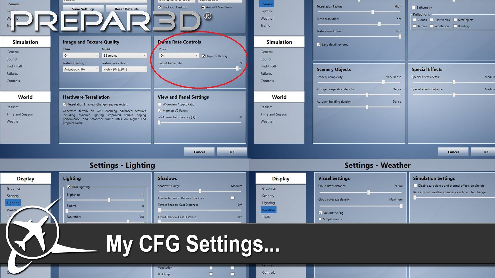 Prepar3D v3] My P3D CFG & Settings | Flight Sim | Desktop
