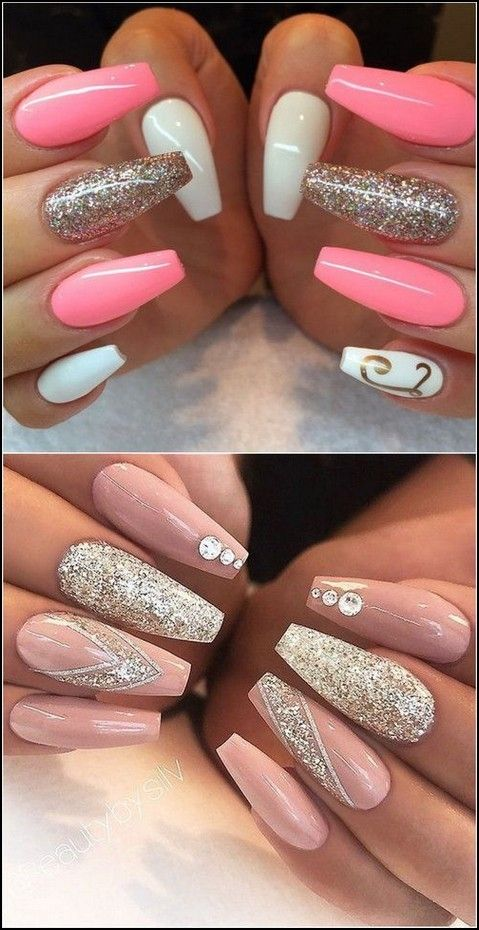 99 Best Coffin Nail Gel Nail Designs For Summer 2019 Page 44 Myblogika Com Trendy Nails Gel Nail Designs Nails