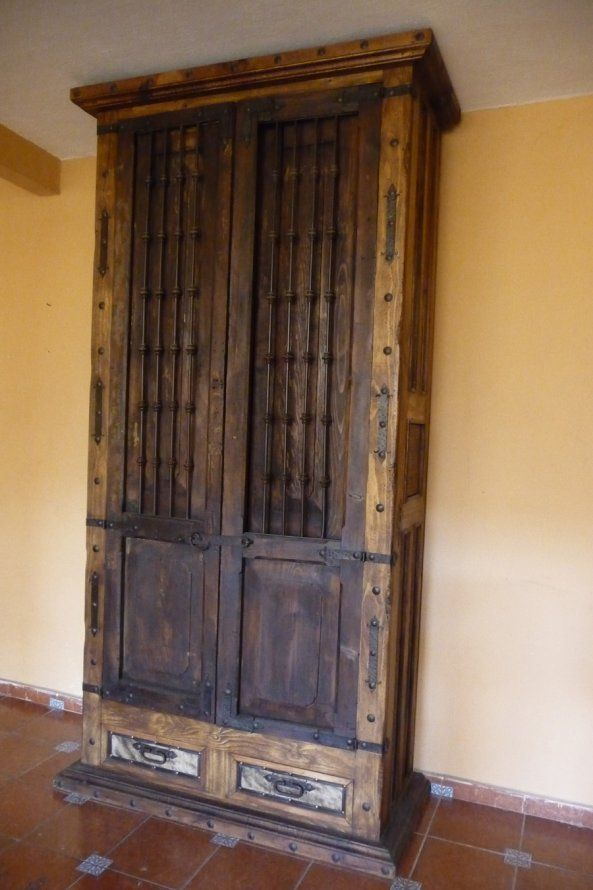 Old Door Armoire 10 feet tall by The Rustic Gallery of San