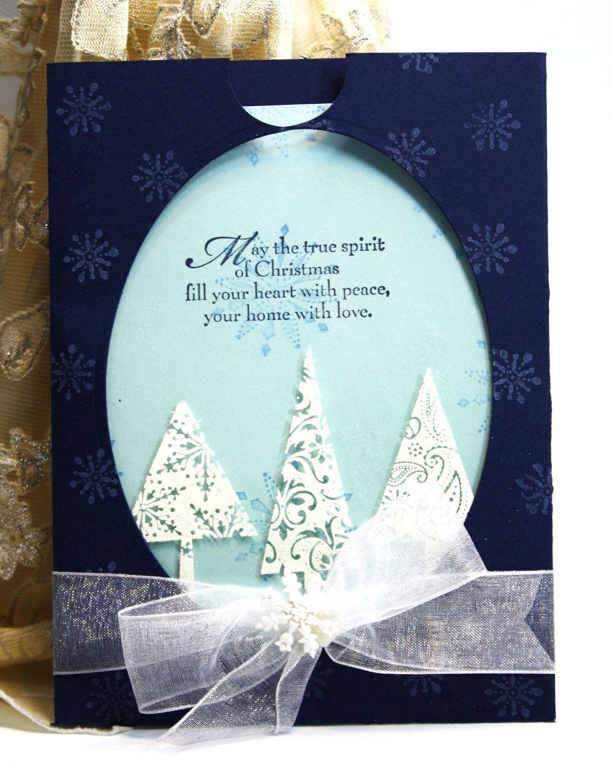 Christmas Pocket Card Handmade Greeting Card May The True Spirit