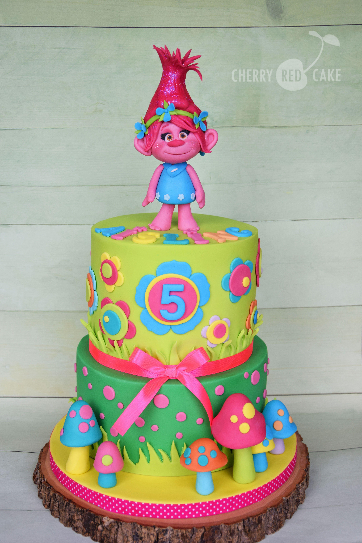 Poppy Rose Cake Design : Trolls cake- Poppy Cherry Red Cake Pinterest Cake ...