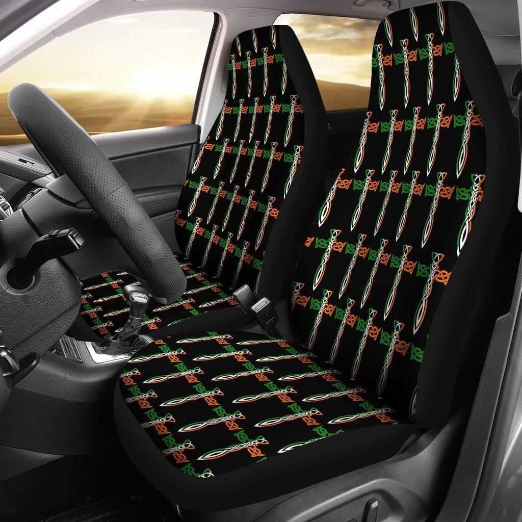 Irish Celtic Cross Car Seat Covers (Set of 2) Car seat