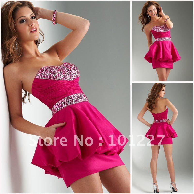 Short Hot Pink Dresses