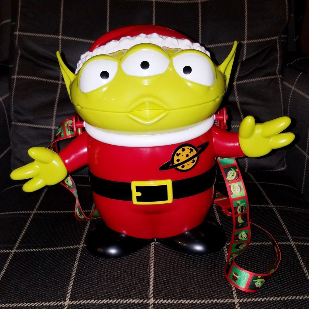 Disneyland Toy Story Santa Green Alien Christmas Popcorn