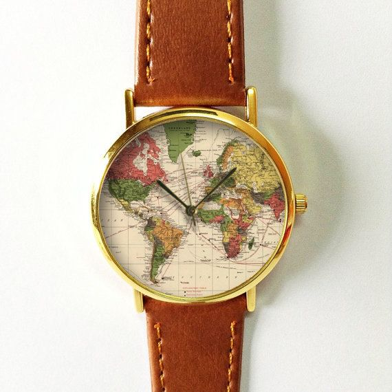 World map watch leather watch women watches boyfriend watch world map watch leather watch women watches boyfriend watch world map mens watch wrist watch vintage style rose gold silver watch gumiabroncs Images