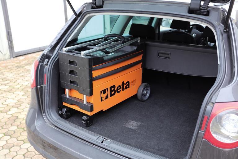 Beta Tool Storage FOLDING TOOL TROLLEY C27S Equipment Garage