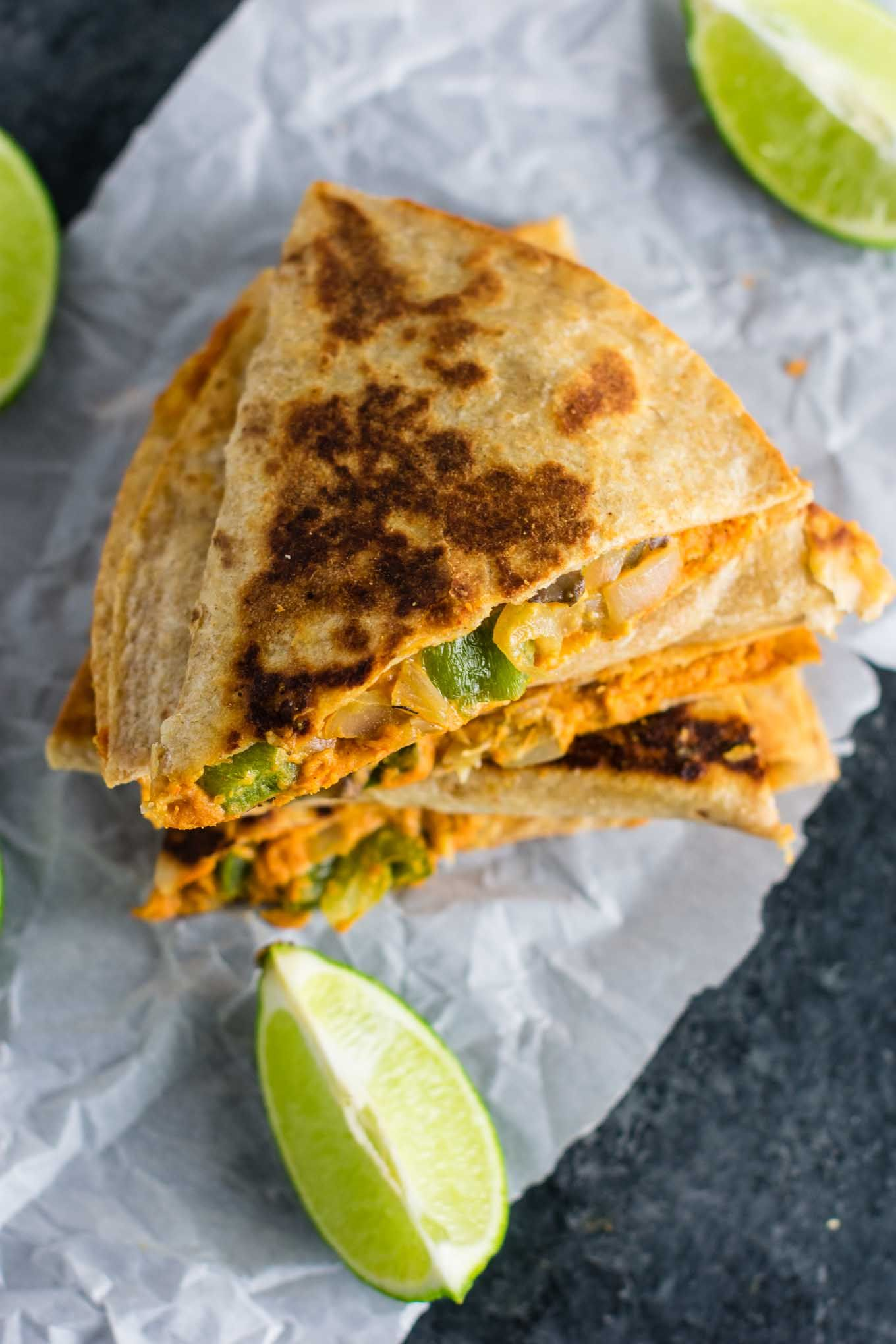 Easy Vegan Quesadillas Recipe Packed Full Of Protein And Flavor No Meat No Dairy No Vegan Cheese It S A Mexican Fav Vegan Dinner Recipes Recipes Easy Vegan