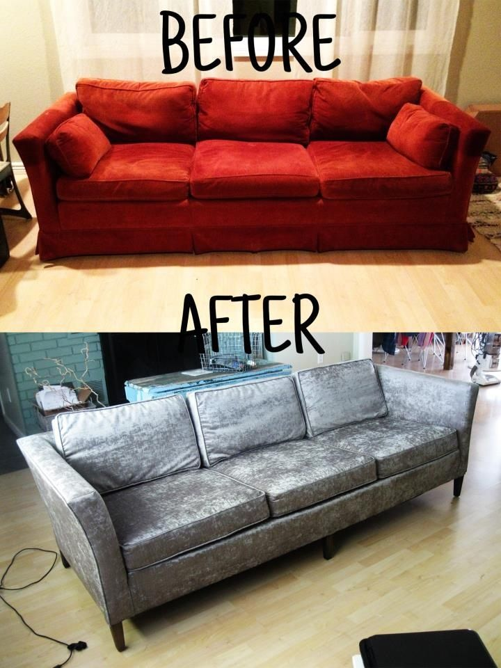 Reupholster Your Sofa Before And After Reupholster Furniture Reupholster Couch Couch Reupholstery