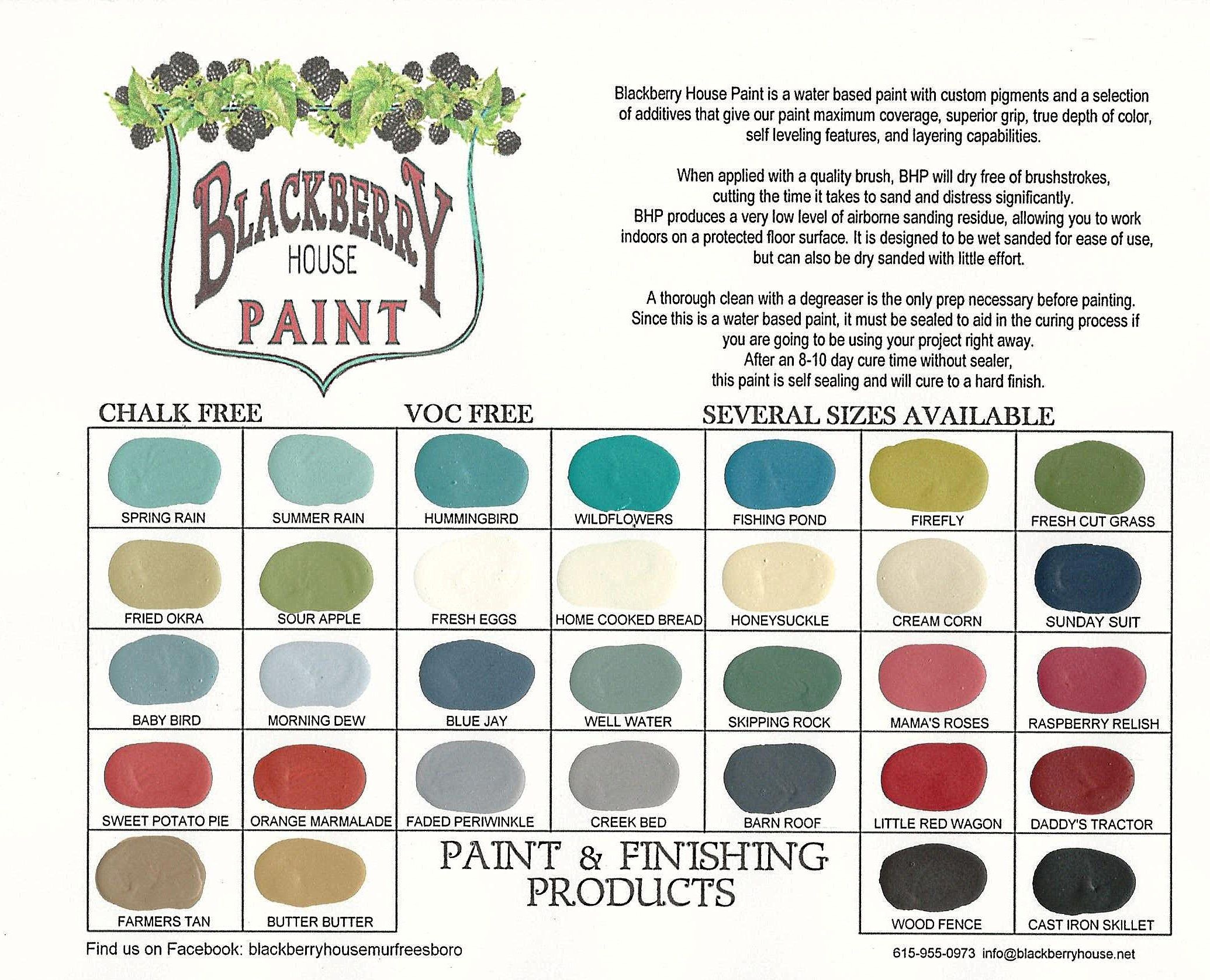 Blackberry House Paint Color Chart January   Cool Diy