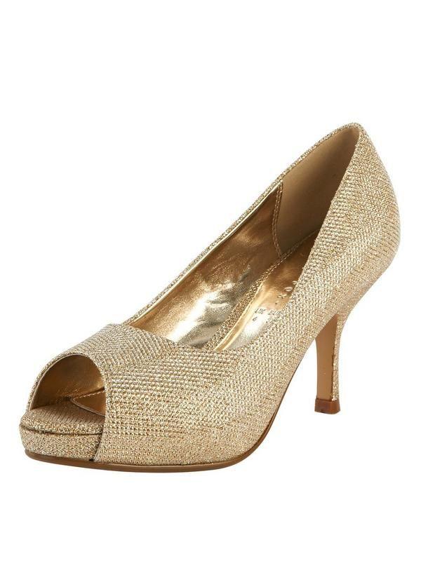 Shoe Box Fey Mid Heel Open Toe Court Shoes | very.co.uk