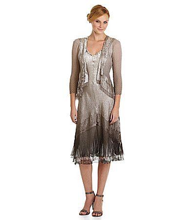 Komarov Lace and Charmuese 2Piece Jacket Dress #Dillards mother of ...