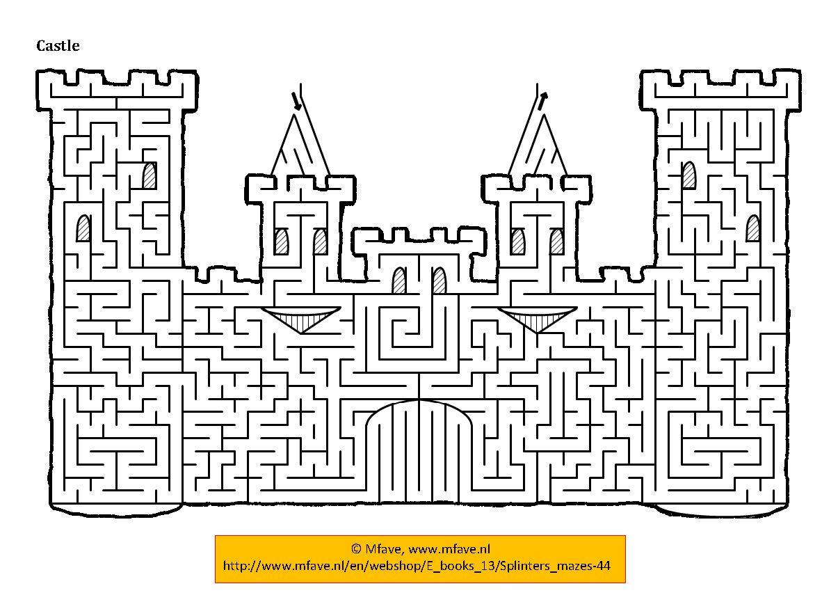 Castle Doolhof Kleurplaten Puzzel