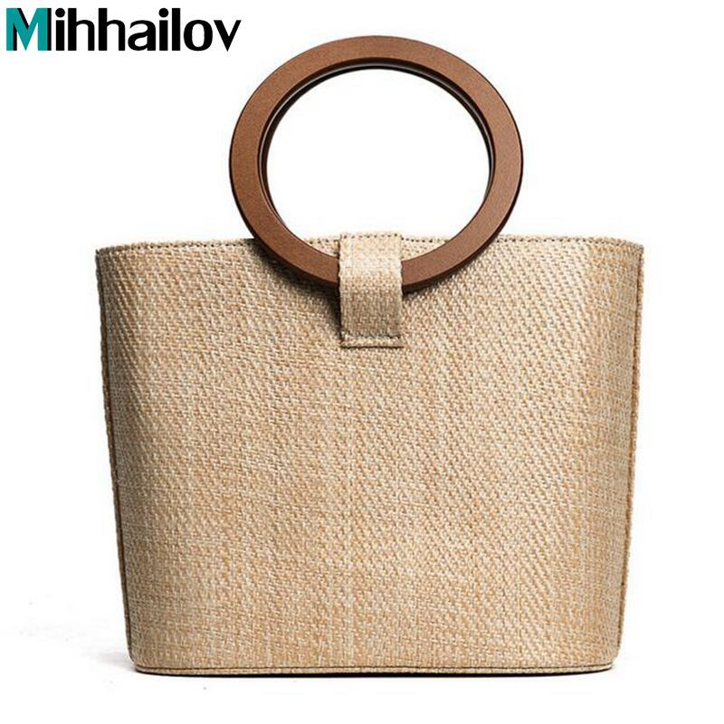 2017 New Trend Straw Bag Package Women Beach Vacation Handbag Bag Round  Wood handle XS-116   Price   36.58   FREE Shipping     hashtag4 1f6c02115ed1f