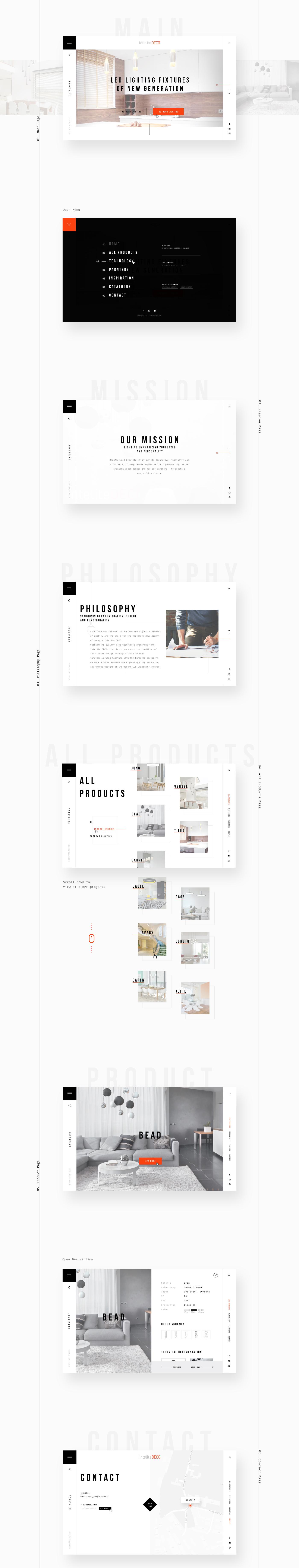 Intelitedeco On Behance Web Design Site Design Website Design