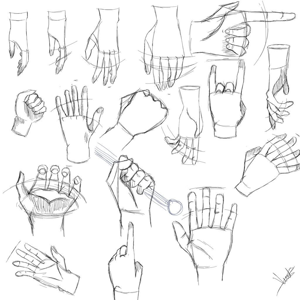 Manga Hand Drawings How To Draw Hands Drawings Character Design