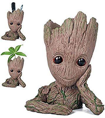 Pawaca Pot de Fleur Groot Figurines Gardiens de la Galaxie Baby Groot Flowerpot B/éb/é Mignon Mod/èle Jouet Pen Pot Cadeaux